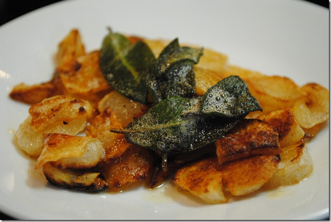 photo of Jerusalem Artichokes cooked in sage butter