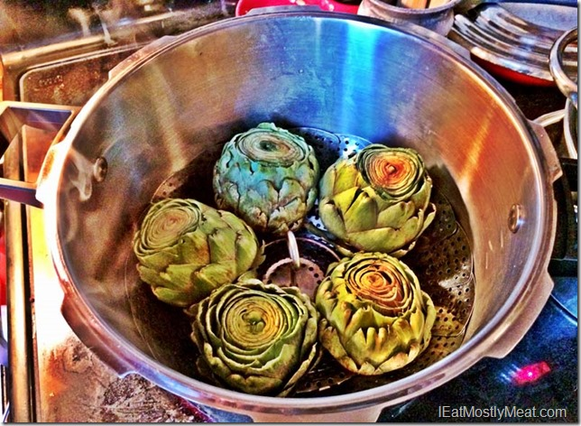 pressure cooker artichokes fast and easy