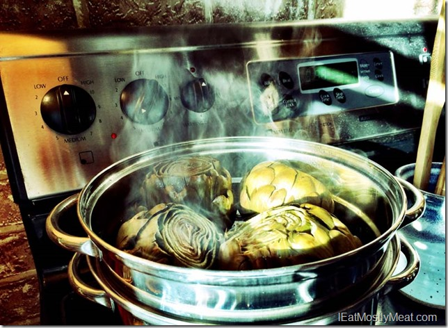 simple steamed artichoke recipe